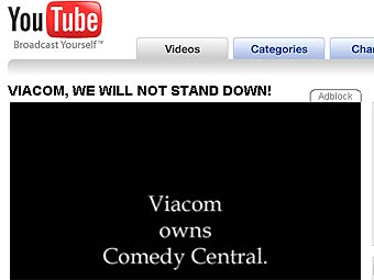 Владелец MTV вчинил YouTube иск на миллиард долларов