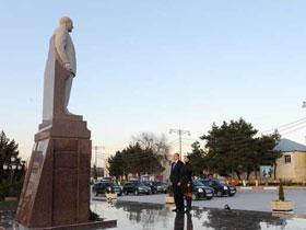 Президент Ильхам Алиев находится в Мингячевире