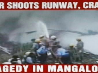 В Индии разбился пассажирский самолет, причиной катастрофы могла стать ошибка пилота