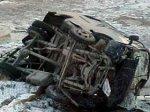Гололед на дороге Баку - Губа привел к аварии пассажирского микроавтобуса