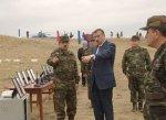 Президент Азербайджана наблюдал за ходом учений с участием бронированной ...